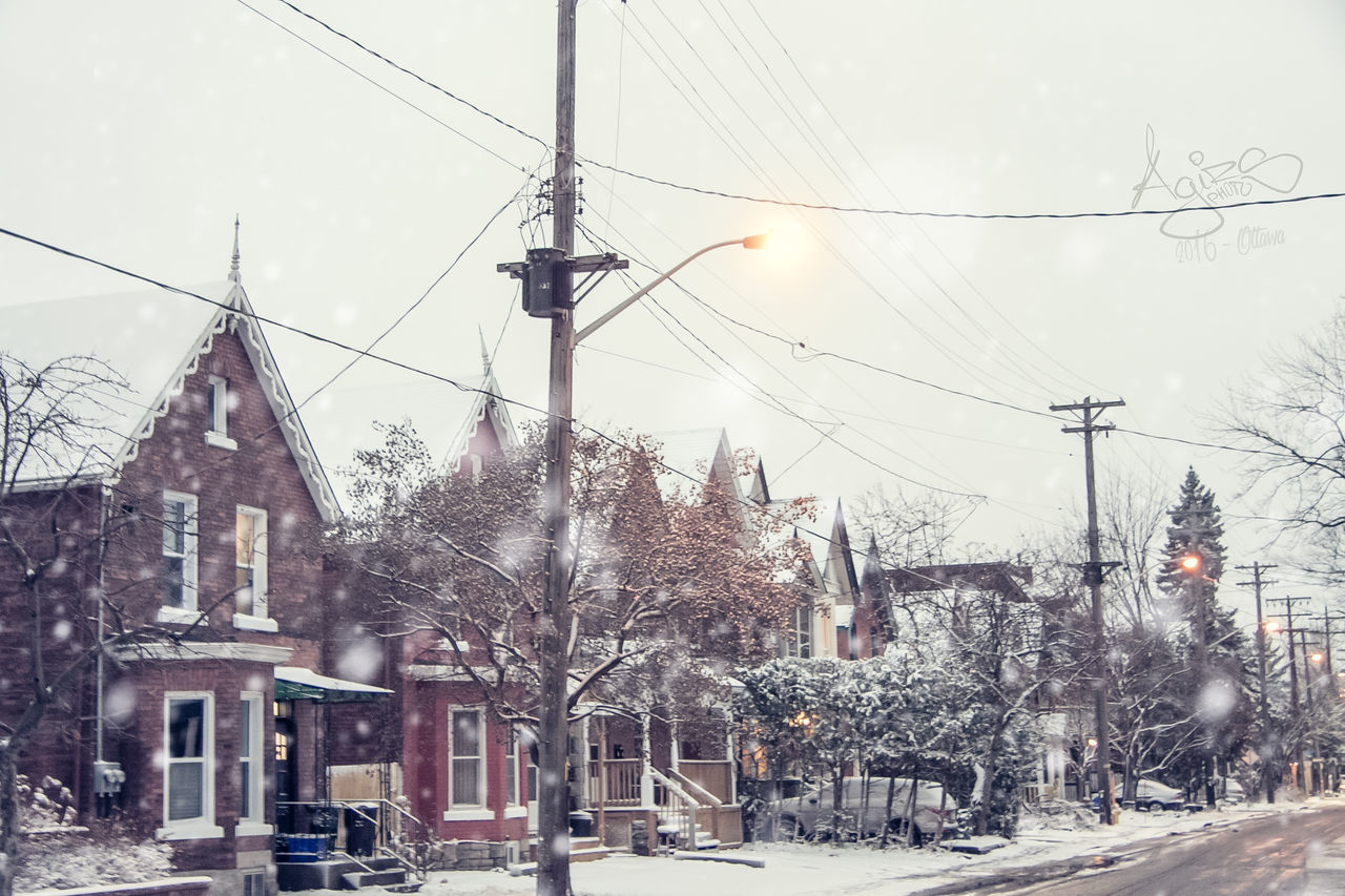 Cable Cold Temperature Day Snow Snowing Tree Weather Winter Winter Town Winter Village