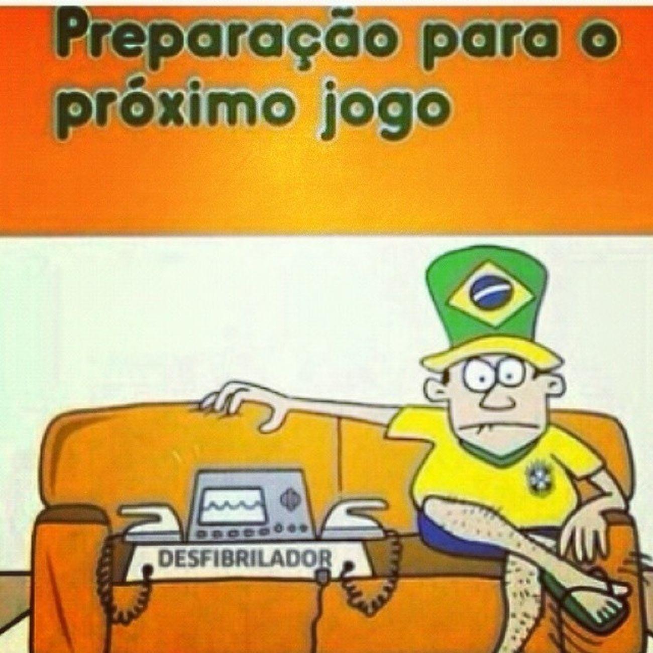 Família, estamos preparados. Que venha o jogo! Copa2014 Brasil HajaCoração