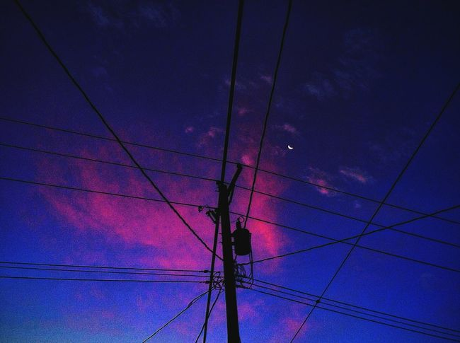Pink Clouds Sunrise Lake Nokomis Powerlines