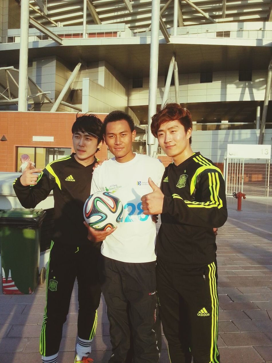 with Korean football champions
