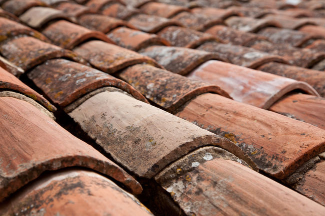 Typical mediterranean roofing Architectural Detail Backgrounds Full Frame Mediterranean  Mediterranean Architecture Roof Roof Shingles Roofing Roofing Shingles Rooftop Shingles
