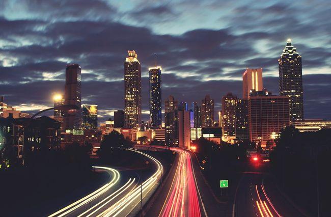 Showcase March Atlanta Architecture Sunset Skyline Weloveatl Jackson Street Bridge Cities At Night
