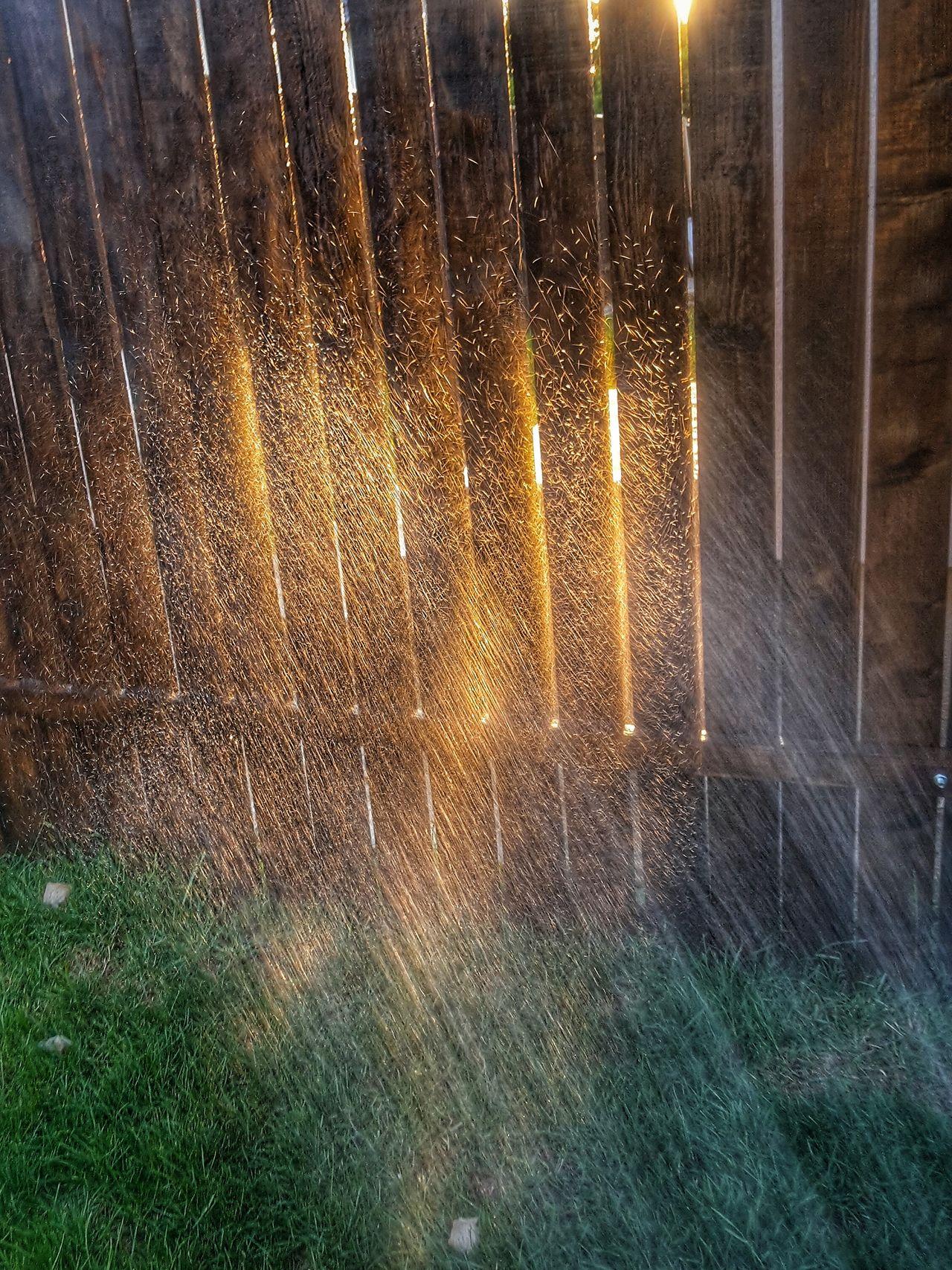 Water, Splash, Waterdrops, Sunset, Light, Nature, Grass, Outdoor, Illuminated, Glowing, Sunbeam