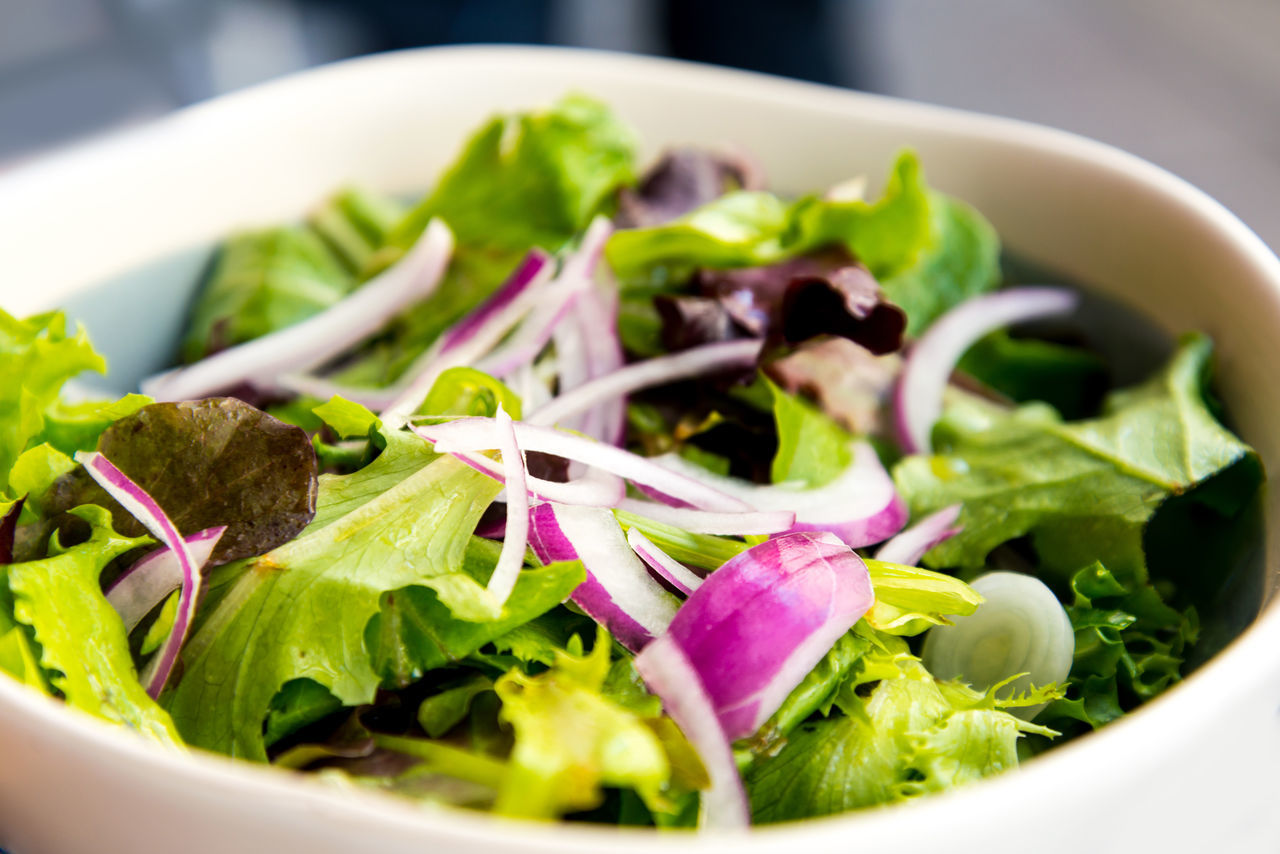 salad, vegetable, healthy eating, food, food and drink, freshness, bowl, no people, close-up, lettuce, indoors, ready-to-eat, day