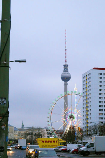 #Berlin #Christmas #City #cityscapes #colours #street #streetphotography #Winter Architecture Building Exterior Built Structure City Outdoors Sky Tower Transportation Travel EyeEmNewHere
