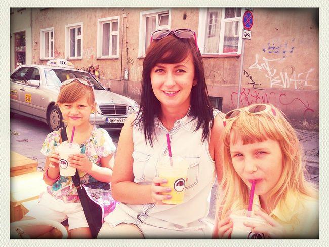 Helenka nas zabrała na czaderskie Shake'i;)