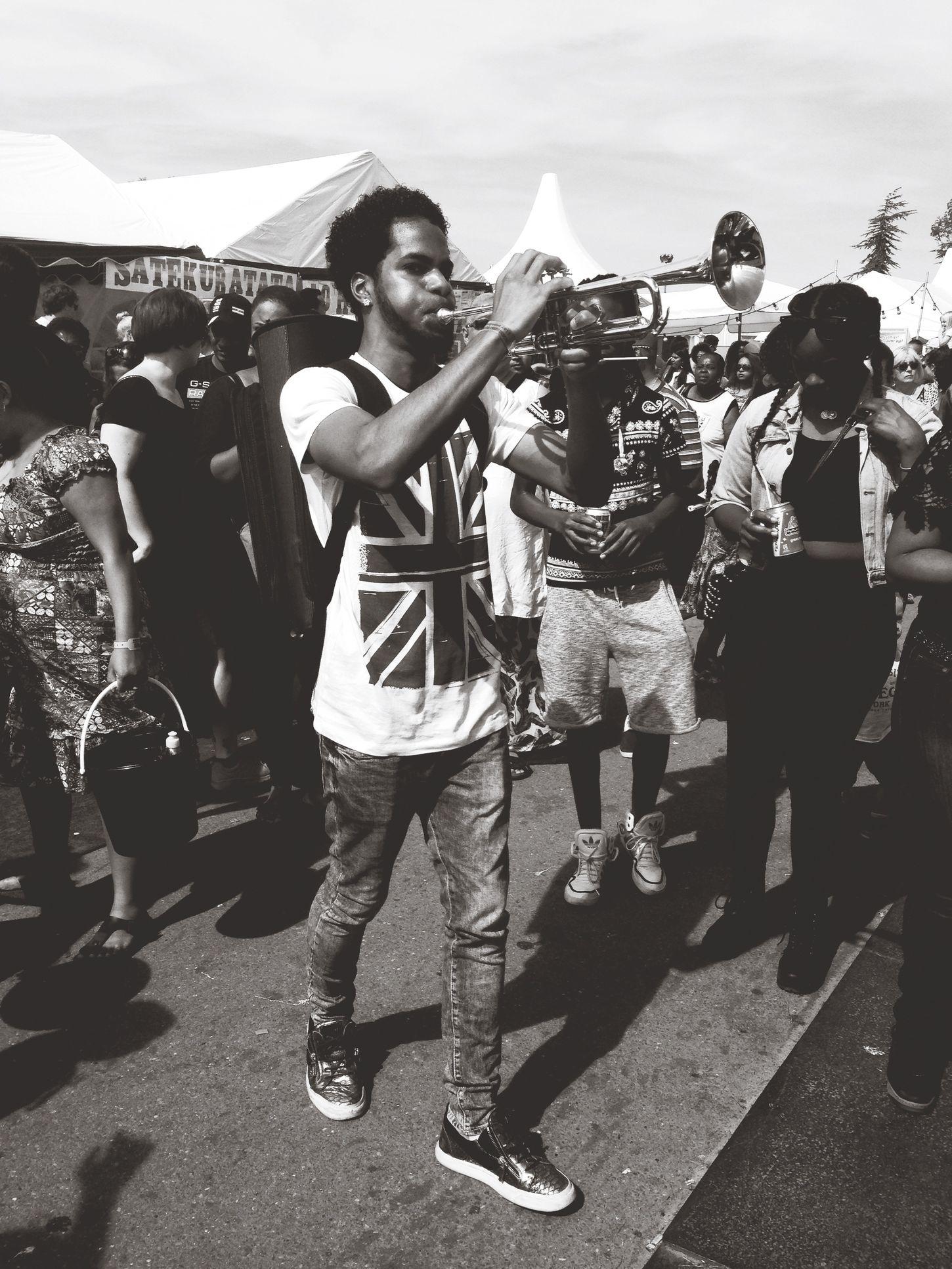Kwakufestival Music Marching Band Summertime People Watching Blackandwhite