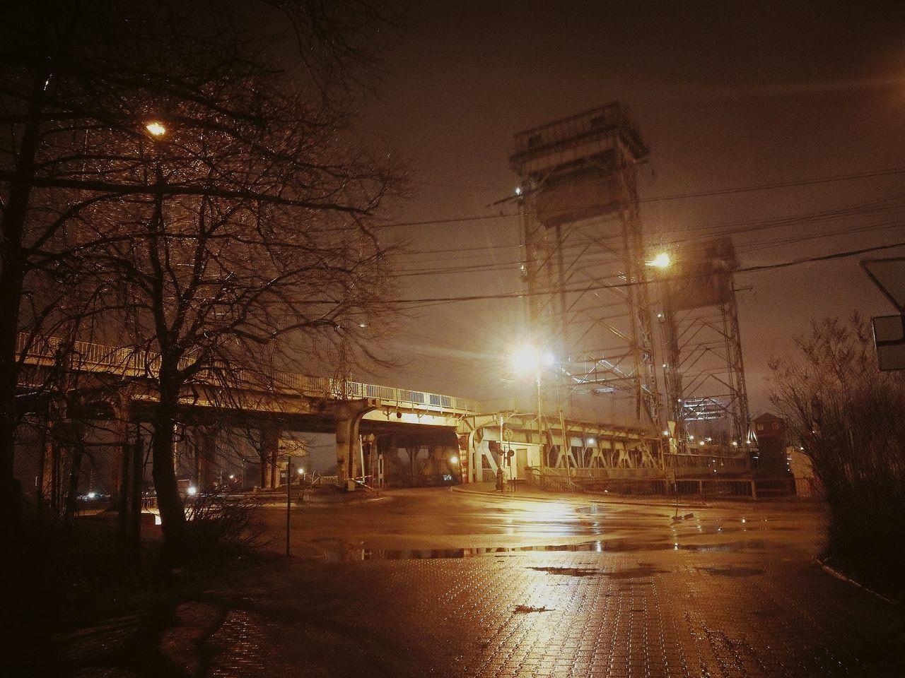 мост калининград Ночь