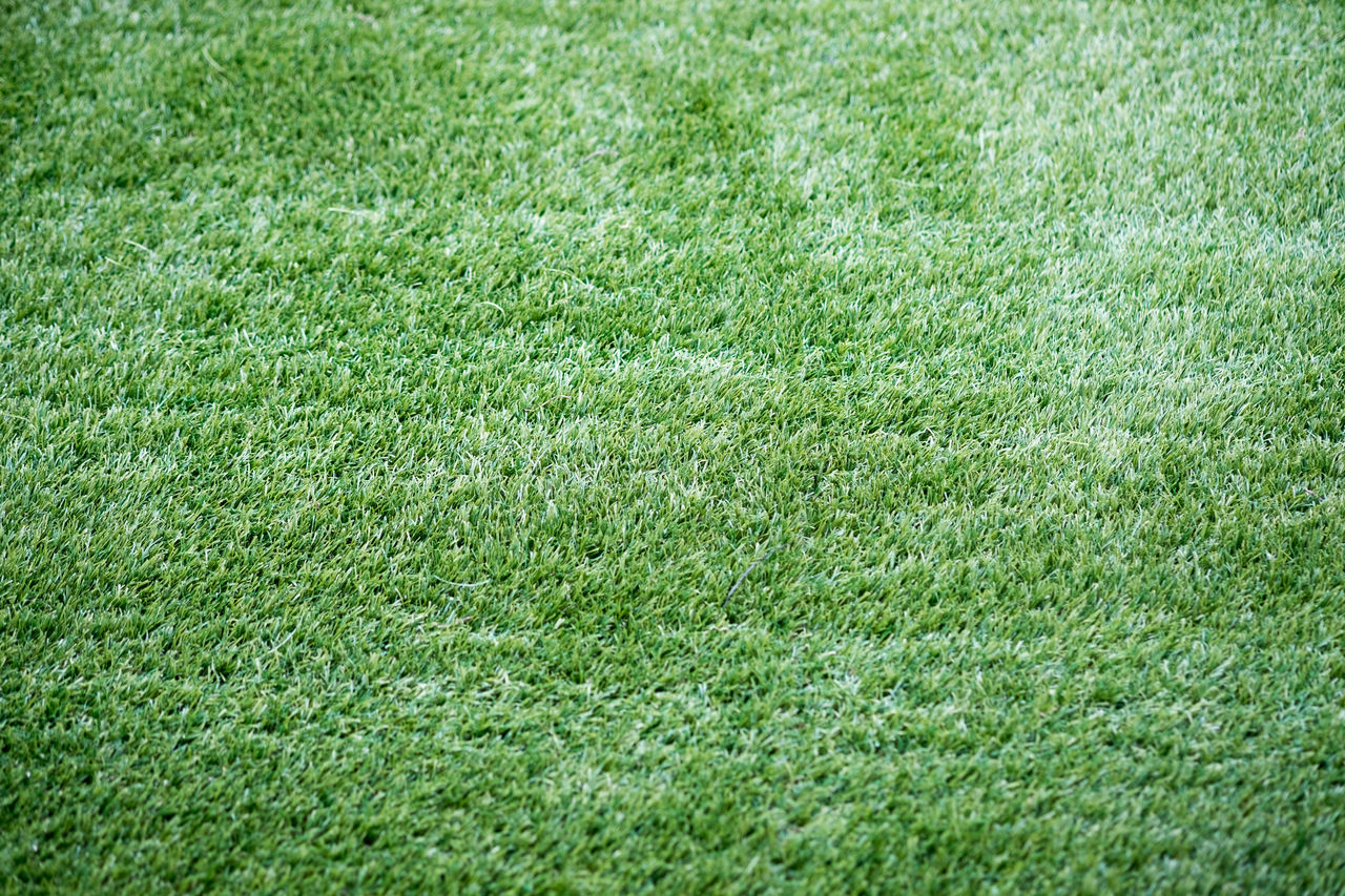 grass, green color, field, backgrounds, nature, full frame, lawn, soccer field, turf, no people, playing field, meadow, grass area, outdoors, day, growth, green - golf course, american football field, beauty in nature, sport, rural scene, golf course, close-up