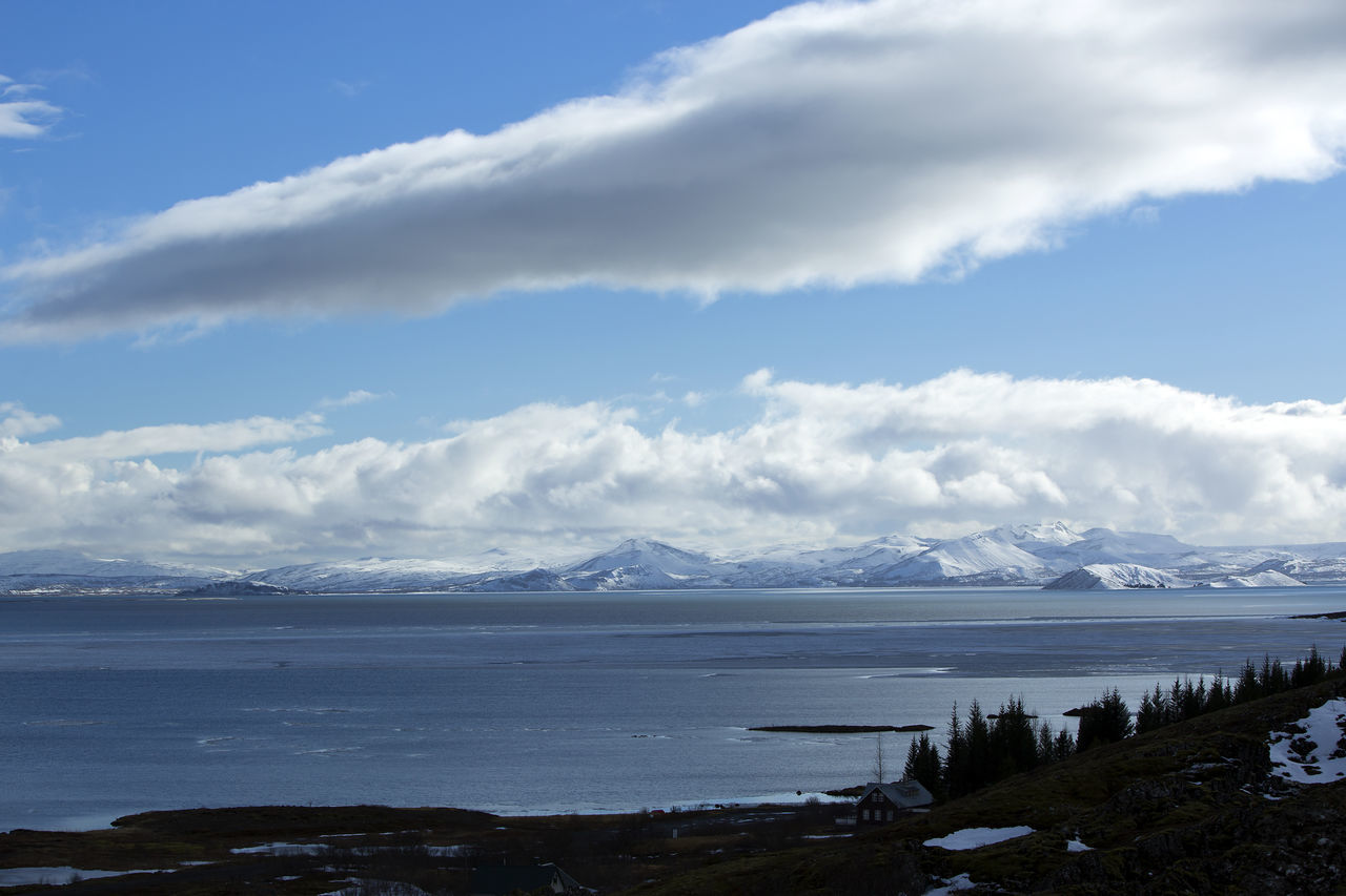Beauty In Nature Cloud - Sky Day Iceland Iceland Memories Iceland Trip Iceland_collection Landscape Mountain Nature No People Outdoors Pingvallavatn Pingvellir Scenics Sky Thingvellir National Park Travel Travel Destinations Travel Photography Water