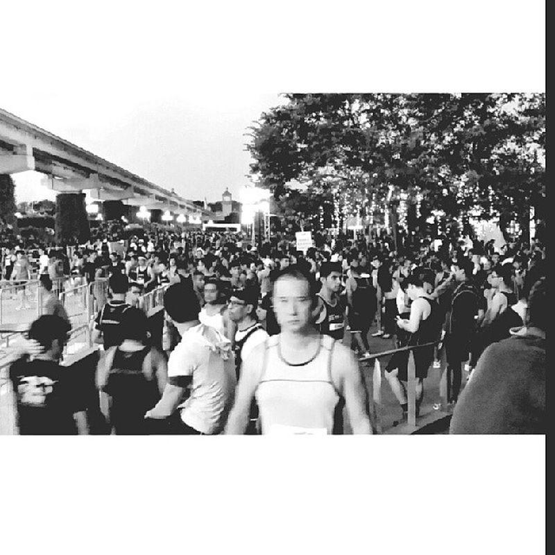 10km runners at the Sentosa home team run