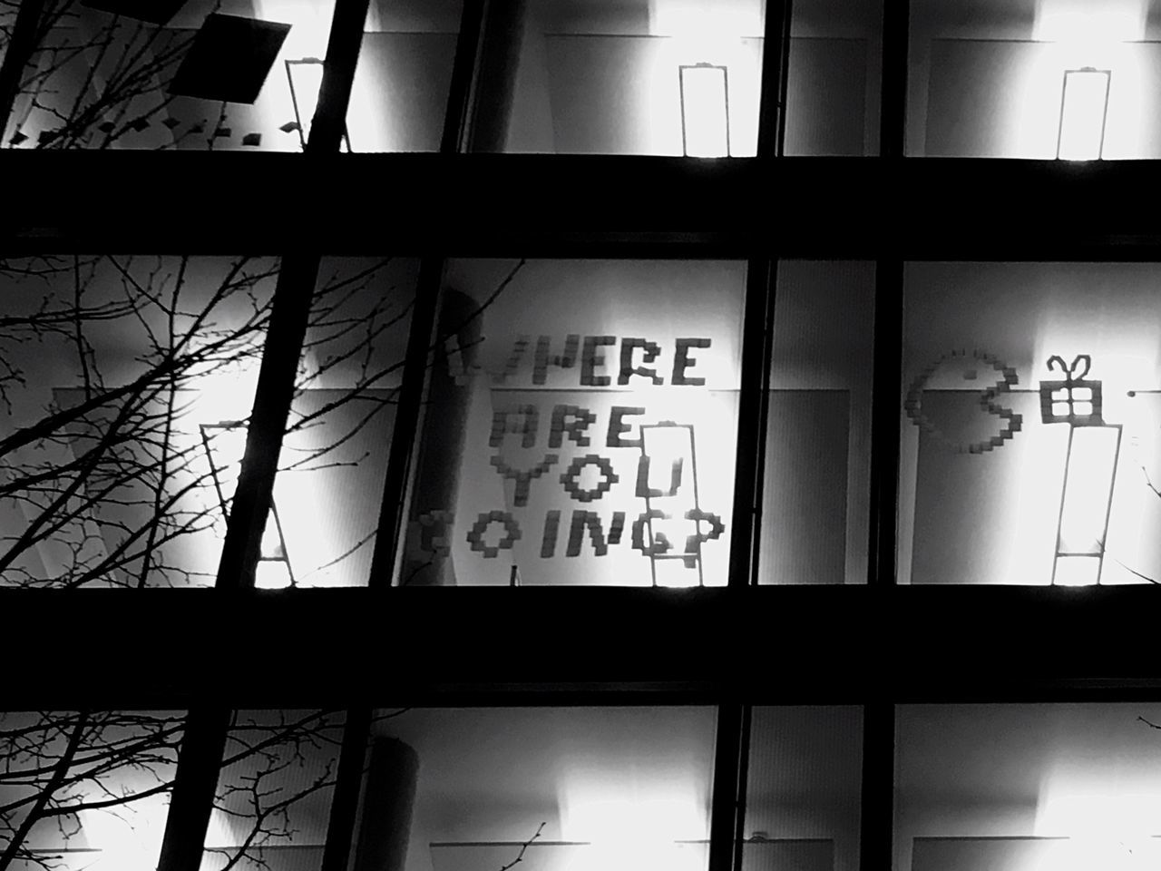 Text Building Exterior Window No People Low Angle View Close-up Architecture Communication Pacman