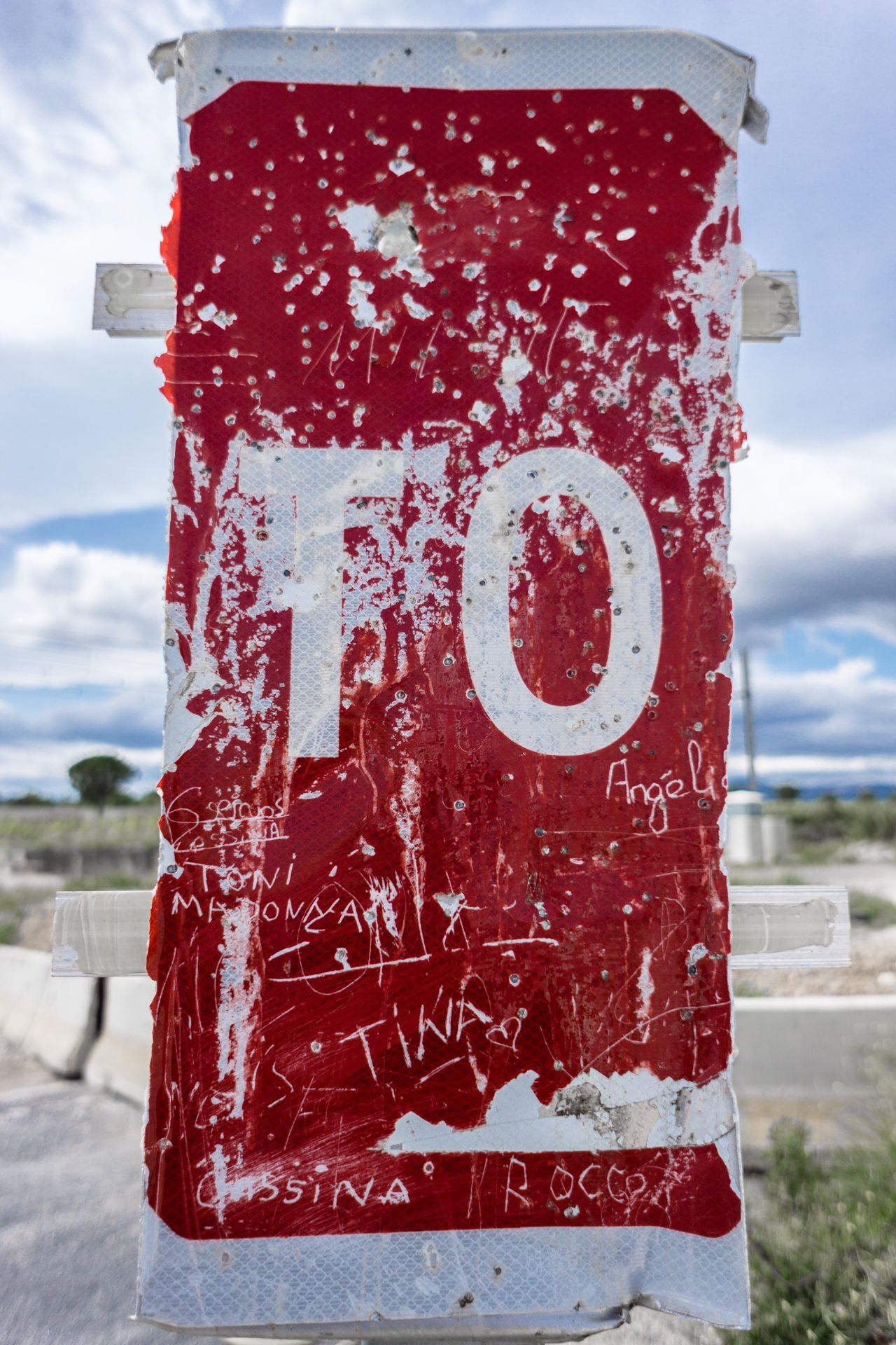 Stop Stop Sign Vandalism Schrapnel Red Sign Tag Rocco Broken Sony Sony A6000 A6000 Sonyalpha Day Outdoors Gipsy Gipsylife Style Target Target Shooting Aim France