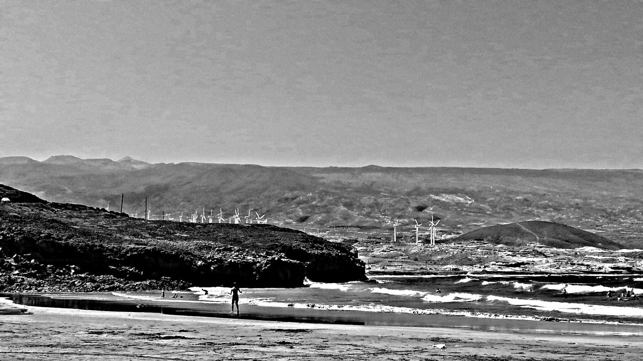 Sunshine And Summer Time Beach Day Blackandwhite Photography