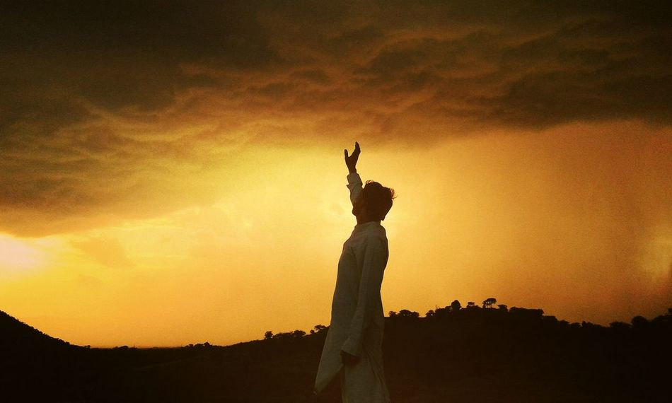 Silhouette Sky Sunset Outdoors Cloud - Sky Beauty Forgiveness Sun Nature Statue Void Of Color Day Evening Sky Pakistani Beauty Pakistaniphotographer One Woman Only Adult One Young Woman Only Adults Only Only Women One Person People Young Adult