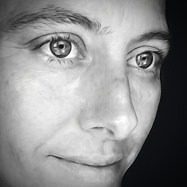 FaceShot No Makeup Me Portrait Of An Artist My Art, My Soul... EyeEm Bnw EyeEm Gallery Beautiful Portrait Of A Woman Taking Photos Blackandwhite Eye4photography  Check This Out Black And White Collection  EyeEm Best Edits Desaturated Beauty EyeEm Best Shots Eyes Facial Profile Close-up Woman Portrait Black & White Portrait