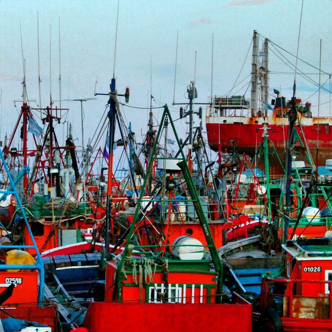 Puerto de Mar del Plata Puerto Port Harbor Mardel Barco Boat
