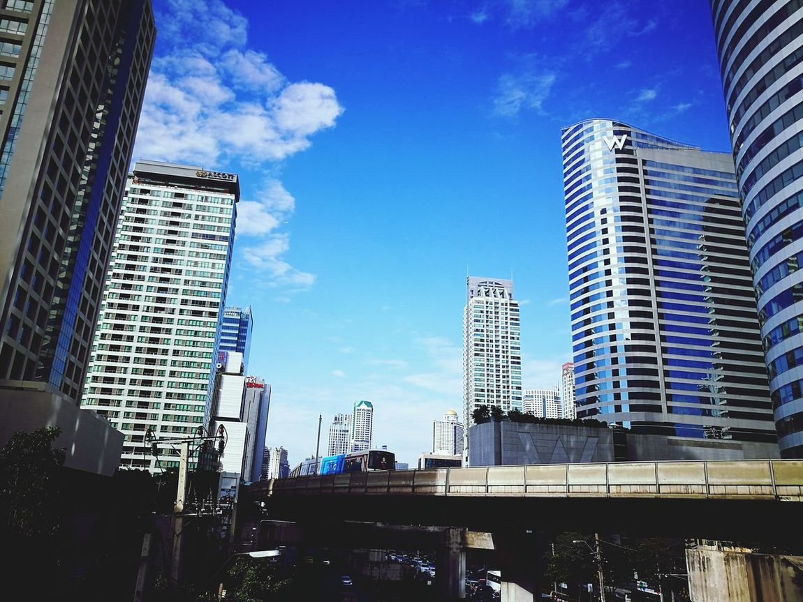 City Skyscraper Architecture Building Exterior Sky Built Structure Office Building Exterior Cityscape Business City Life Cloud - Sky Downtown District Day Urban Skyline Bangkok Bangkok Thailand. City Life Bangkok City Taken By Huawei P9