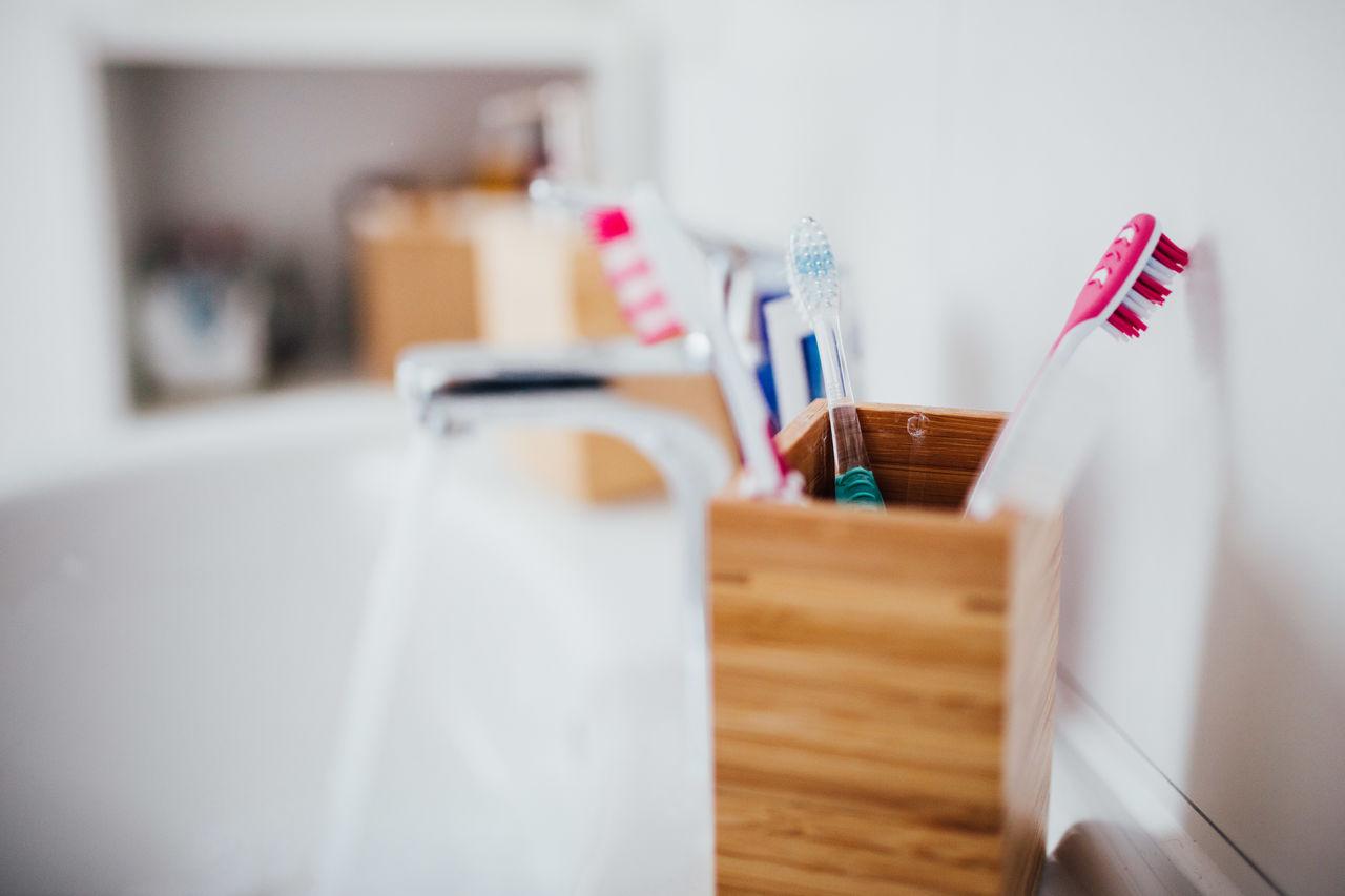 Bathroom Brushing Brushing My Teeth Cleaning Dental Dental Care Health Care Home Indoors  Mirror No People Pink Teeth Toothbrush