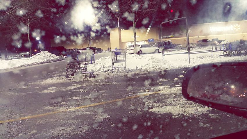 Parking Lot Winter 2016 It's Cold Outside Snow Kentucky