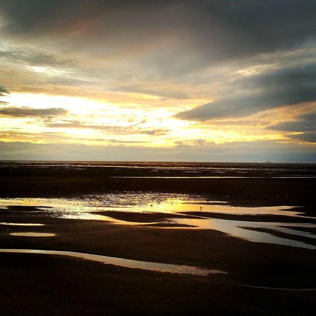 Thurstaston Beach on reflective day... Wirral Wirral Peninsula Thurstaston Beach Photography Reflection Sunset Sunsetandbeach Sunsetandwater Reflections On The Water Home Is Where The Art Is Uk Coastline English Coastline Coast Riverdee