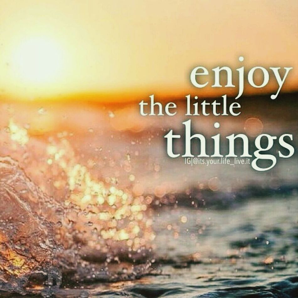 Its the little things that matter Little Things Inspirational Words Of Wisdom Seize The Day