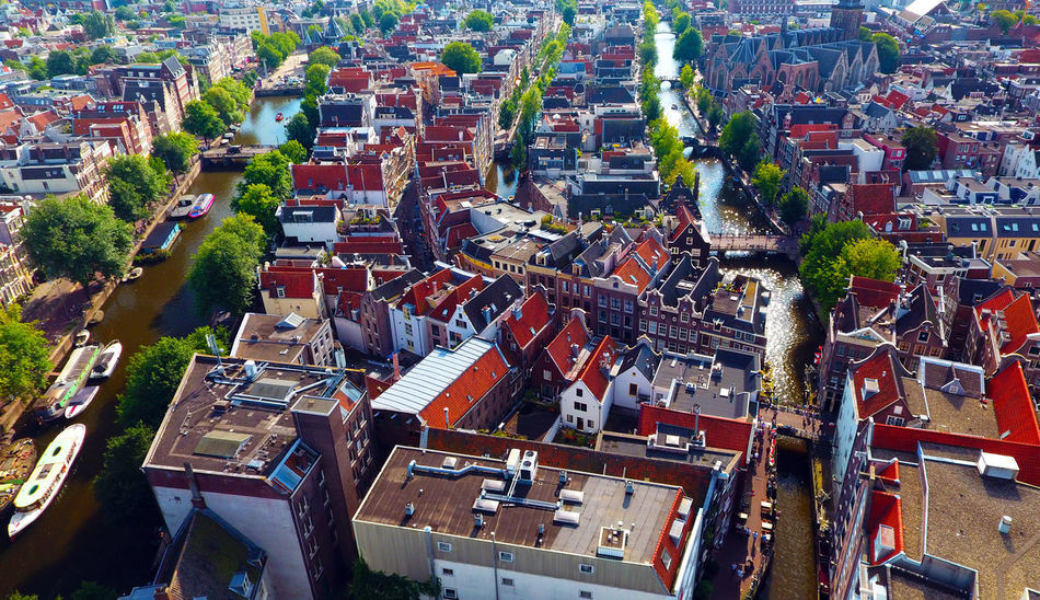 Aerial Photography Aerial Shot Aerial View Amsterdam Amsterdam Canal Canaux City Holland Hollande Netherlands Red Light District