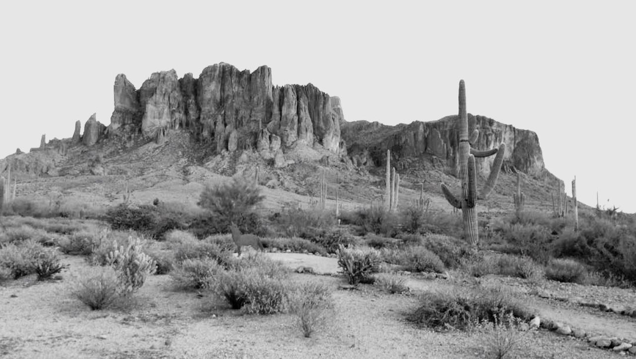 Superstition Mountains Lost Dutchman Siphon Trail to Flatiron Desert Mountains Mountain Mountain View Landscape Blackandwhite Black And White Shades Of Grey