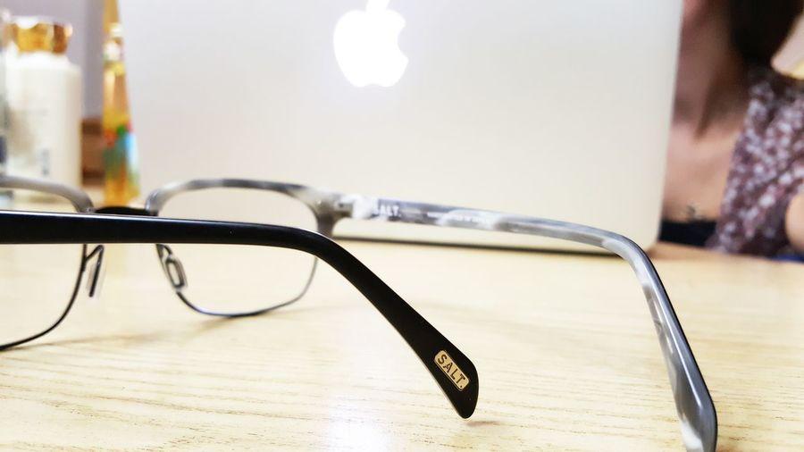 Salt optics Harlan eyeglasses in front of apple macbook pro Eyeglasses  MacBookPro Mensfashion First Eyeem Photo