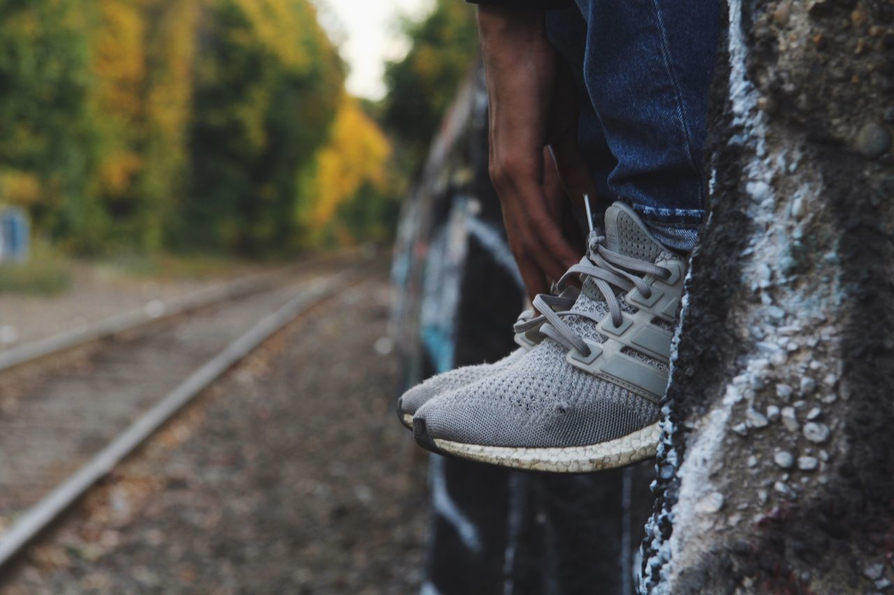 Ultra boost adidas Adidas Adidasoriginals Ultra Boost Shoes ♥ Shoes Of The Day Lifestyles Real People One Person Day Outdoors Human Leg Standing Low Section Human Body Part Tree Close-up Nature Foot Photography Footwear First Eyeem Photo