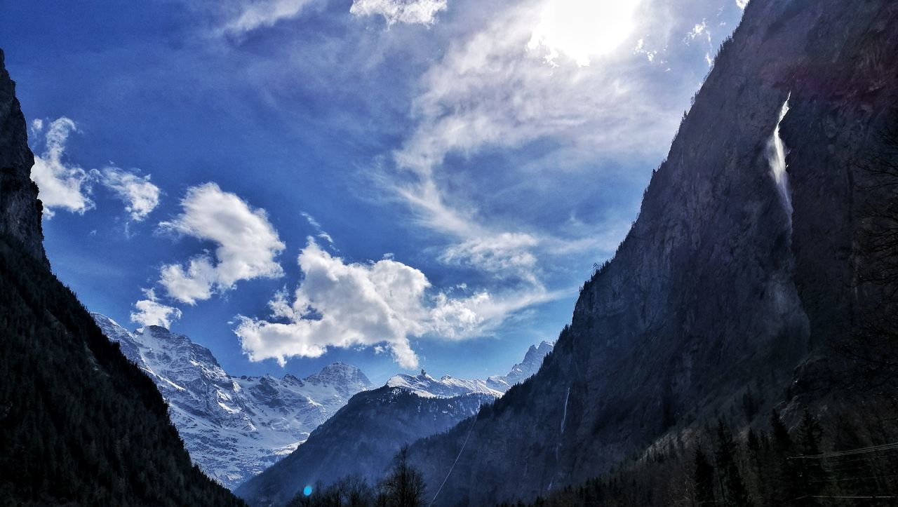 Cloud - Sky Sky Mountain Low Angle View Beauty In Nature Scenics Nature Outdoors Snow No People Bernese Oberland Eye4photography  Rivendell MiddleEarth Lauterbrunnen Valley Alps Switzerland Landscape_photography Spring Time