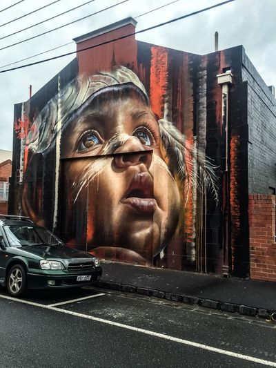 Streetart Mural Matt Adnate Facial Experiments Forgotten Dreams New Nightmares Photographic Approximation