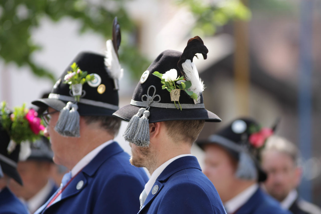 Celebration Ceremony Corpus Christi Day Focus On Foreground Gun Club Life Events Men Military Parade Oberammergau Outdoors Parade Real People Shooting Club Togetherness Uniform