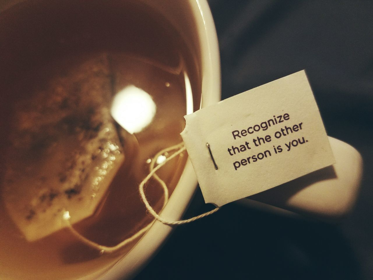 Wisdom with your tea. Text Communication Close-up EyeEm November EyeEm Best Shots Bokeh Tea Getting Inspired Mobile Photography Personal Perspective Always Be Cozy