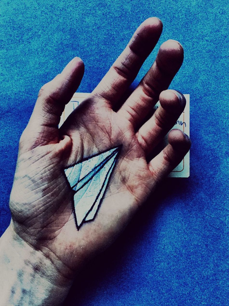 Telling Stories Differently Paper Paperplanes Hand Painting Close-up i just wish this plane could take me to paradise