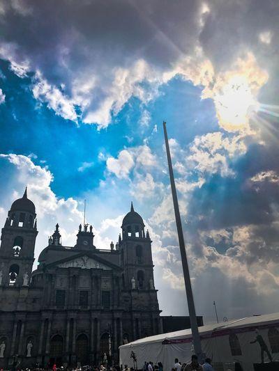 Architecture Religion Building Exterior Sky Built Structure Cloud - Sky Spirituality Place Of Worship Dome City Outdoors No People Day TolucaLaBella Estado De México Catedral Plaza De Los Martires