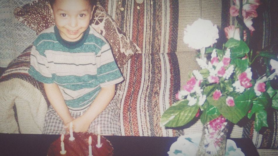 4 year old me That's Me Hello World Colorful Enjoying Life Cheese! Smile Interior Childhood Child Happy Happiness Birthday Birthday Cake Celebration Candle Youngme Past Memories Canada