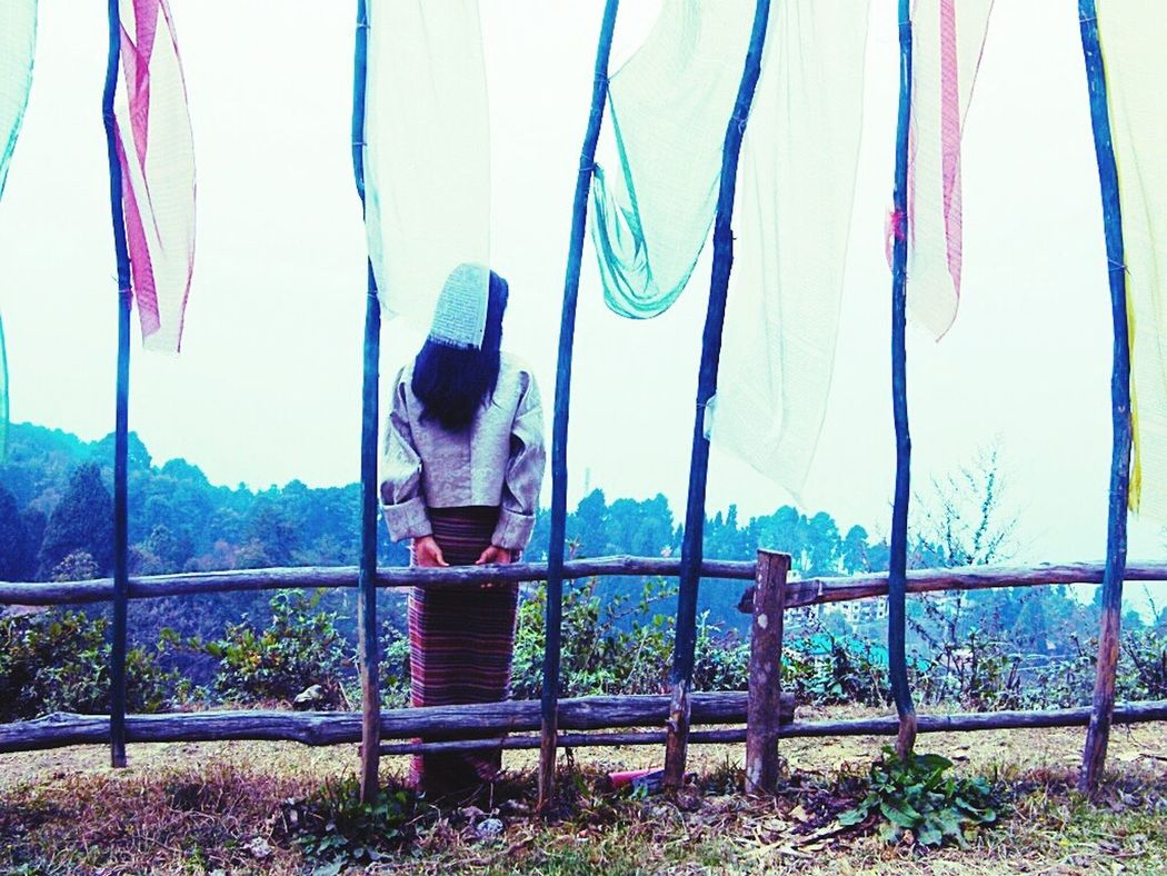 Prayer Flags  Taking Photos Girl Peace And Quiet Alone Beautiful Sunny☀ Friends ❤ Kisses❌⭕❌⭕ Fun Times ^_^ Looking To The Other Side