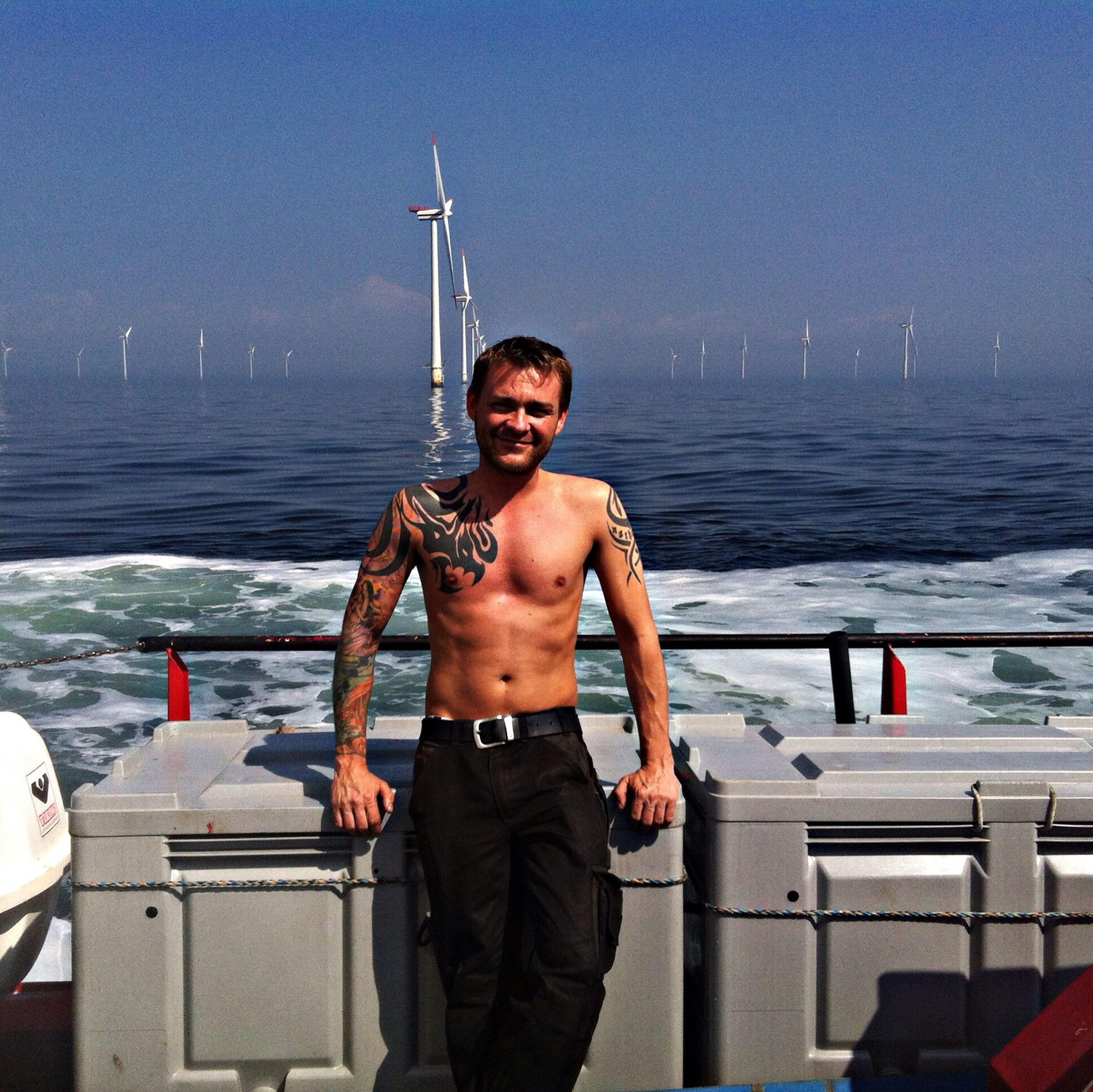 Wind Farm Offshore Hard Working