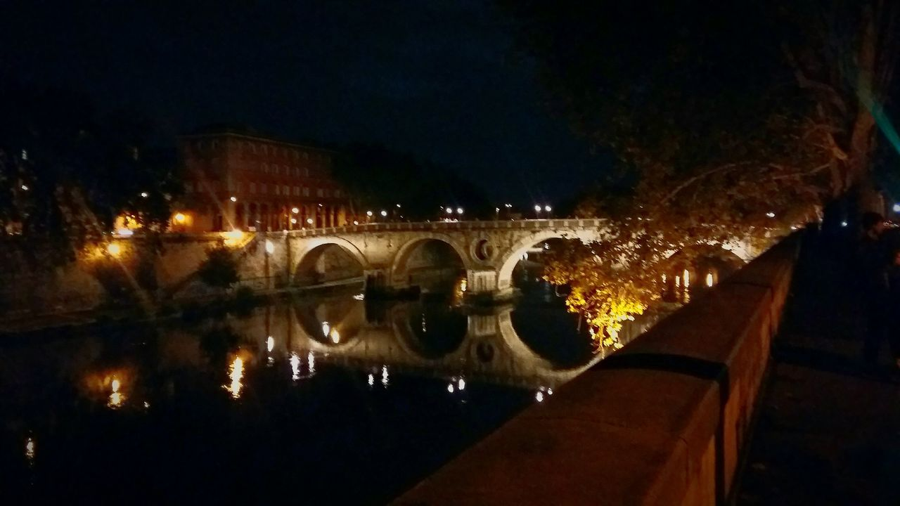 Lungotevere Illuminated Night Rome Rome Italy Rome By Night Water Arch Bridge Travel Destinations