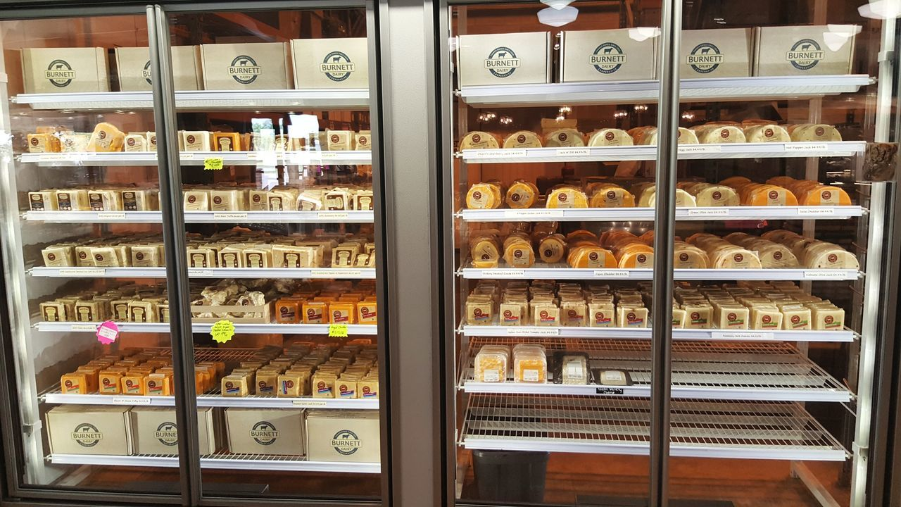 Abundance Cheese Cheese Factory Choice Day Food Freshness In A Row Indoors  No People Retail  Shelf Variation
