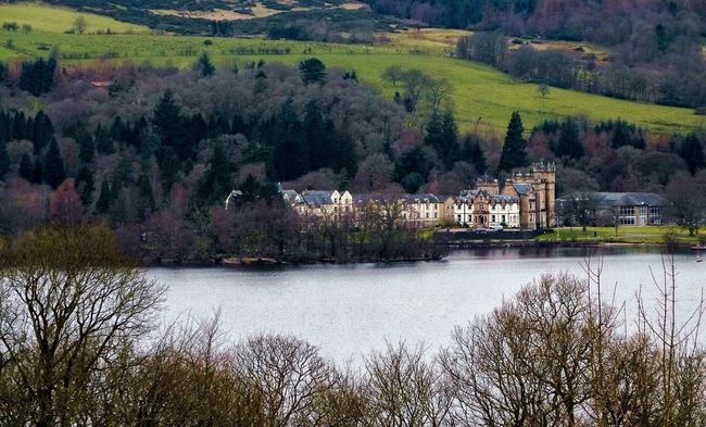 Countryside Building Exterior Lake Outdoors Day Green Hill Water Tree Growth Beauty In Nature LochLomond Destination Nature Luxury Hotel Country Manor