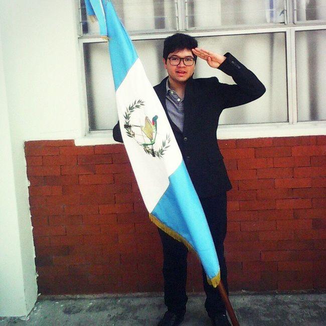 Yo Abanderado Saludo Militar bandera Guatemala