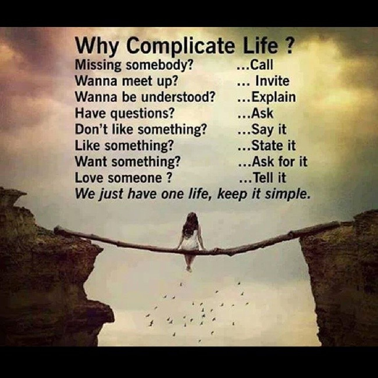 Make it simple people Dntbeindecisve