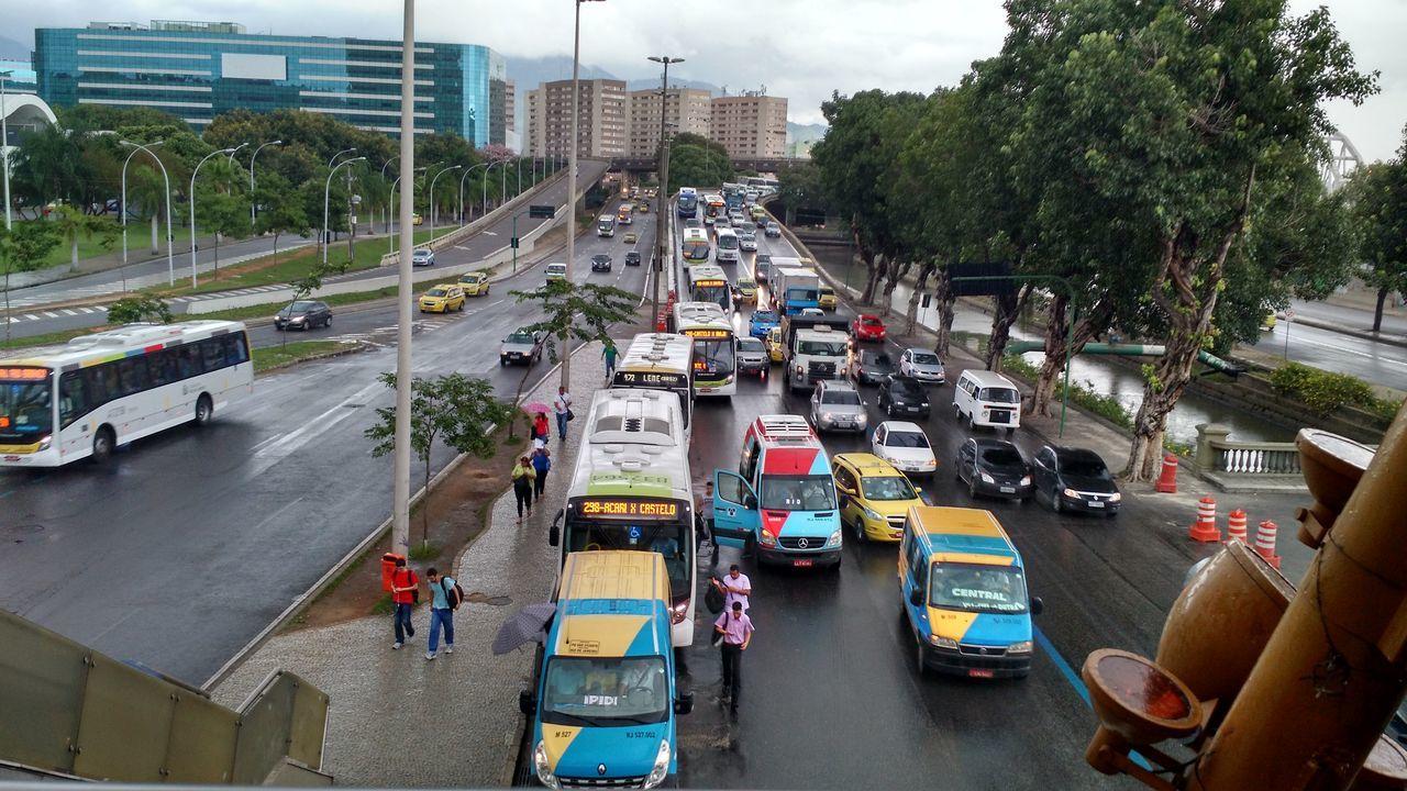 Traffic Jam Traffic Lights Rainy Days Presidente Vargas Avenue