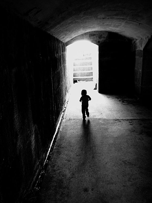 Hello World Runs Towards The Light 🏃🏽 Stairway To Heaven Darkness And Light Dark Bnwphotography Black & White Capture The Moment EyeEm Bnw Colour Palette Bnwportrait Collector Of Moments ILoveStreets
