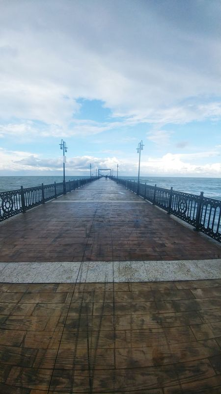 Çobanlı iskelesi Sea Water The Way Forward Horizon Over Water Cloud Diminishing Perspective Bridge - Man Made Structure Pathway Tranquil Scene Pier Railing Sky Long Walkway Narrow Calm Tranquility Ocean Scenics Day