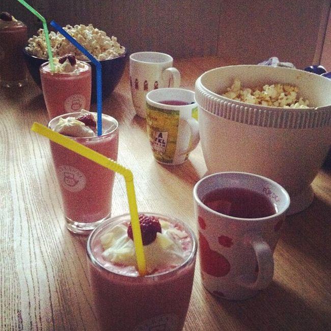 Filmabend kann starten #strawberrycolada #popcorn Popcorn Strawberrycolada