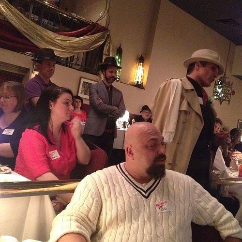 Al Capone, in the house at Speakeasy WhodunitTO