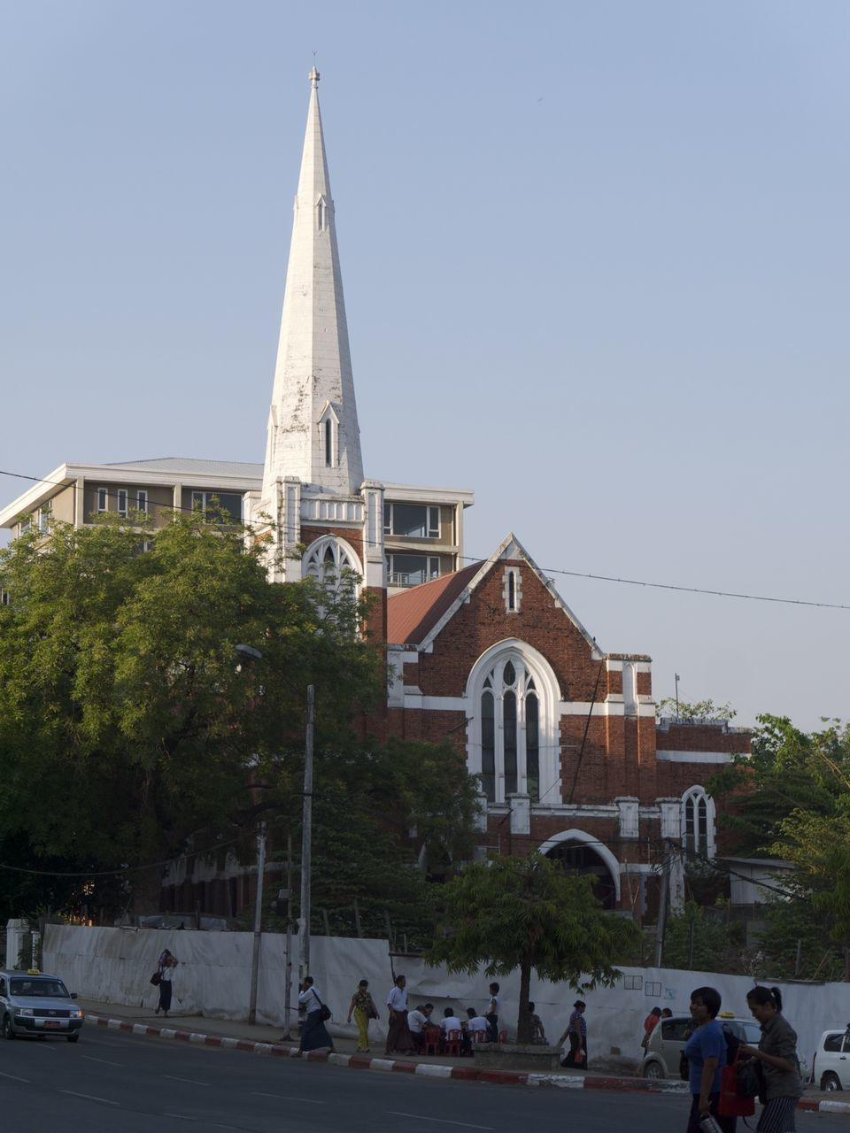 Facade Of Church Against Clear Sky